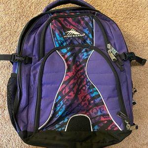 High Sierra 6 Pocket Purple Backpack